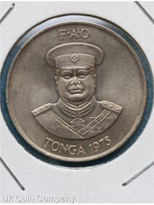 1975 tonga uncirculated 20 seniti coin