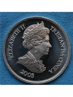 2005 tristan da cunha one crown proof coin