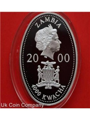 2000 zambia queen mother jubilee 3 silver 4000 kwacha oval proof coins set boxed