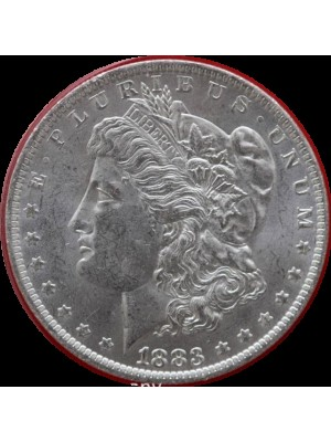 1883 O american silver morgan dollar coin in capsule