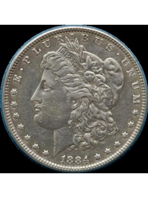 1884 american morgan silver dollar coin
