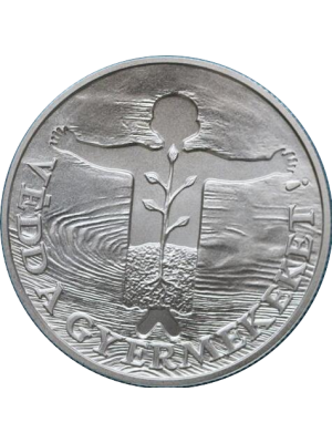 1989 hungary save the children fund silver bunc 500 forint coin - low mintage