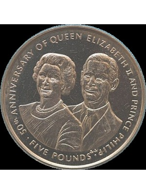 1997 isle of man bu virenium limited issue £5 coin