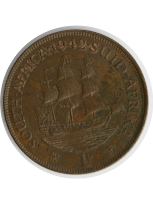 1942 South Africa George VI 1D Coin