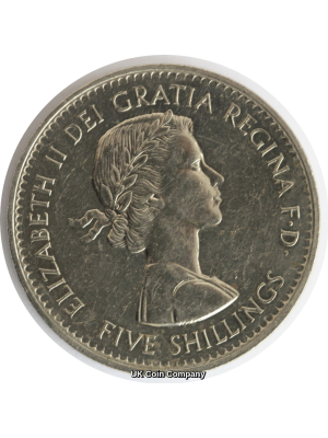 1960 Queen Elizabeth II Five Shilling Coin