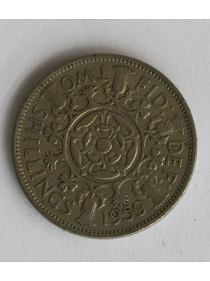 1959 elizabeth ii two shillings coin