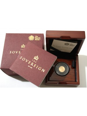 2018 Gold Quarter Sovereign Proof Royal Mint Privy Mark Coin Boxed with Certificate Brand New