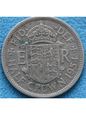 1954 Queen Elizabeth II Half Crown Coin