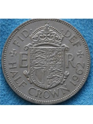 1962 Queen Elizabeth II Half Crown Coin