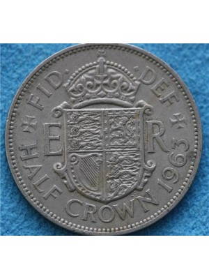 1963 Queen Elizabeth II Half Crown Coin