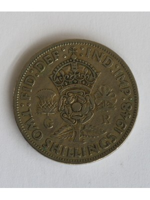 1948 george vi two shillings coin