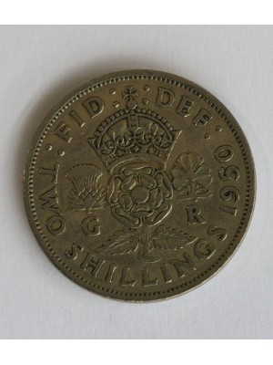 1950 george vi two shillings coin