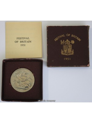 1951 George VI Five Shillings Coin Presented In Original packaging