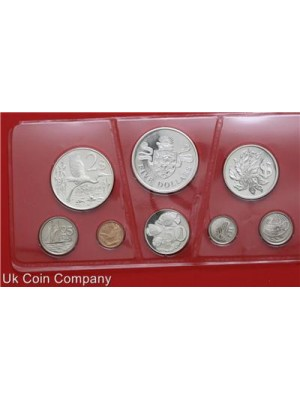1974 CAYMAN ISLANDS SILVER PROOF 8 COIN SET