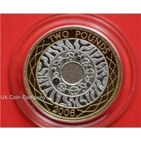 2006 Uk Silver Proof £2 Two Pound Coin Standing On The Shoulders Of Giants