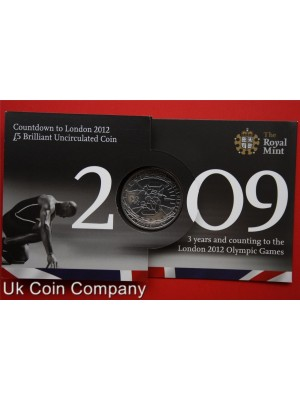 2009 olympic games royal mint brilliant uncirculated £5 coin in pack